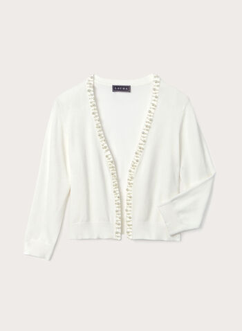 Pearl Adorned Bolero, Off White, hi-res