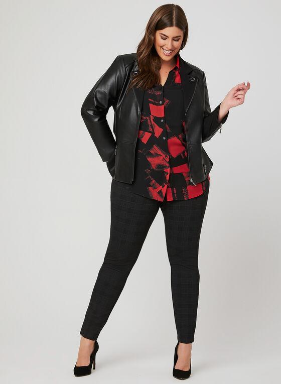Lily Moss - Chemisier en mousseline abstraite, Rouge, hi-res
