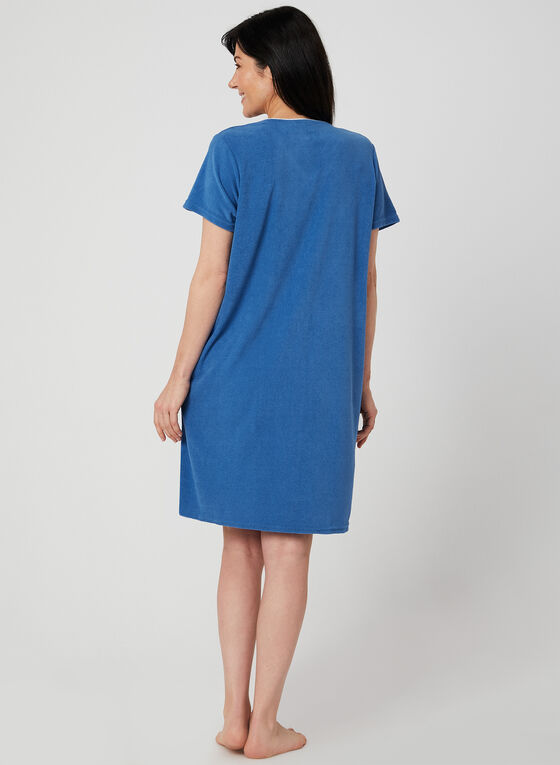 René Rofé - Terry Nightshirt, Blue