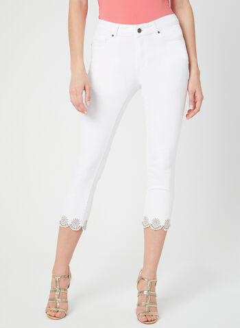 Charlie B - Modern Fit Capri Pants, White, hi-res