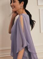 Metallic Poncho Dress, Purple