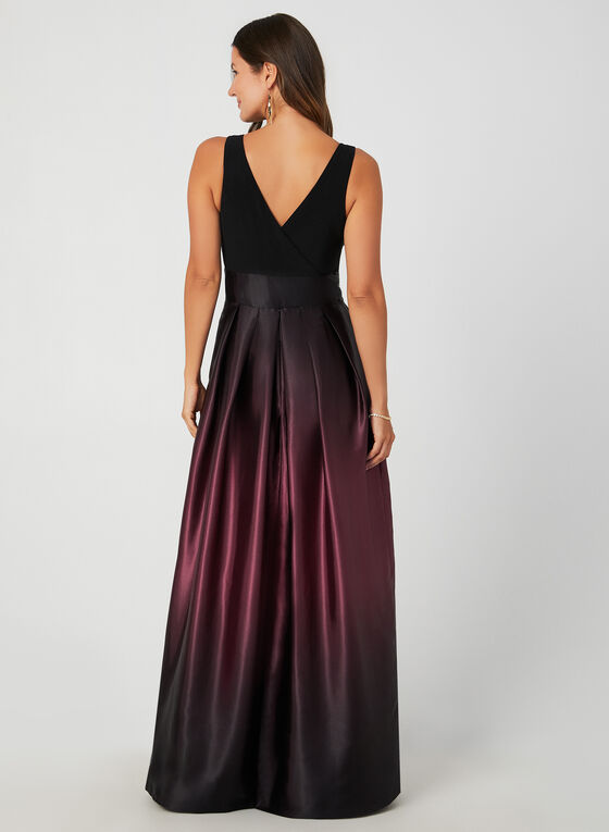 Ombré Satin Skirt Maxi Dress, Purple, hi-res