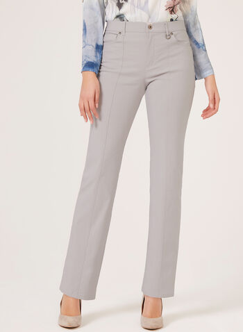 Simon Chang – Signature Fit Straight Leg Pants, Grey, hi-res