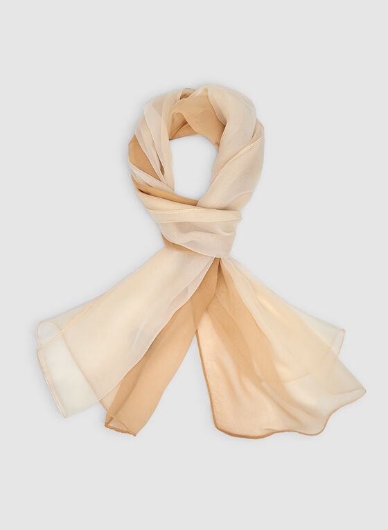 Lightweight Gradient Scarf, Off White, hi-res