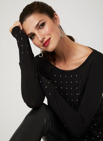 Picadilly - Haut à manches longues avec cristaux , Noir, hi-res