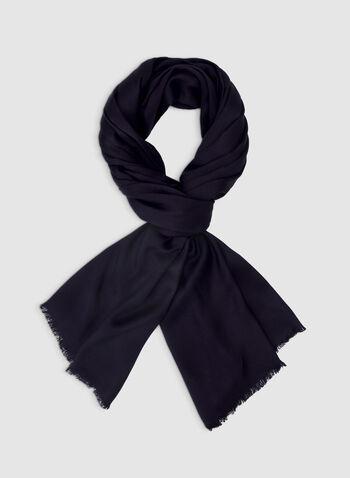 Foulard pashmina uni, Bleu,  foulard, pashmina, uni, viscose, automne hiver 2019