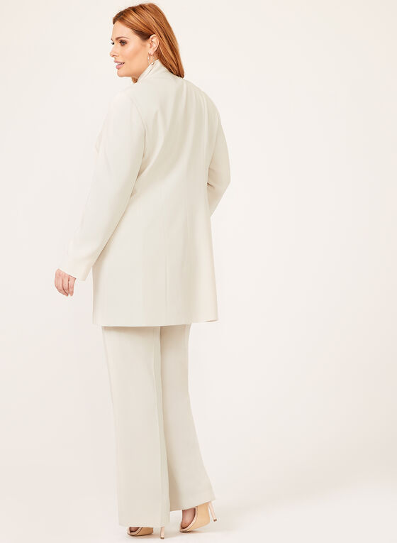 Louben - Long Tailored Blazer, Off White, hi-res