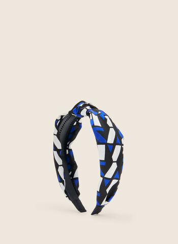 Geometric Print Headband, Blue,  headband, geometric print, printed headband, hair accessory, spring 2020, summer 2020