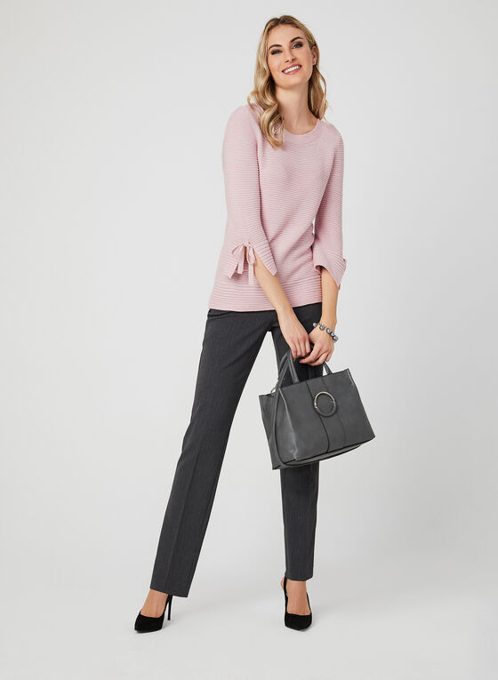 Lurex Knit Sweater, Pink, hi-res