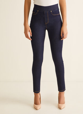 Pull-On Leggings, Blue,  basic, leggings, legging, denim, denim legging, jean legging, pull-on, elastic, comfortable, spring 2020, summer 2020