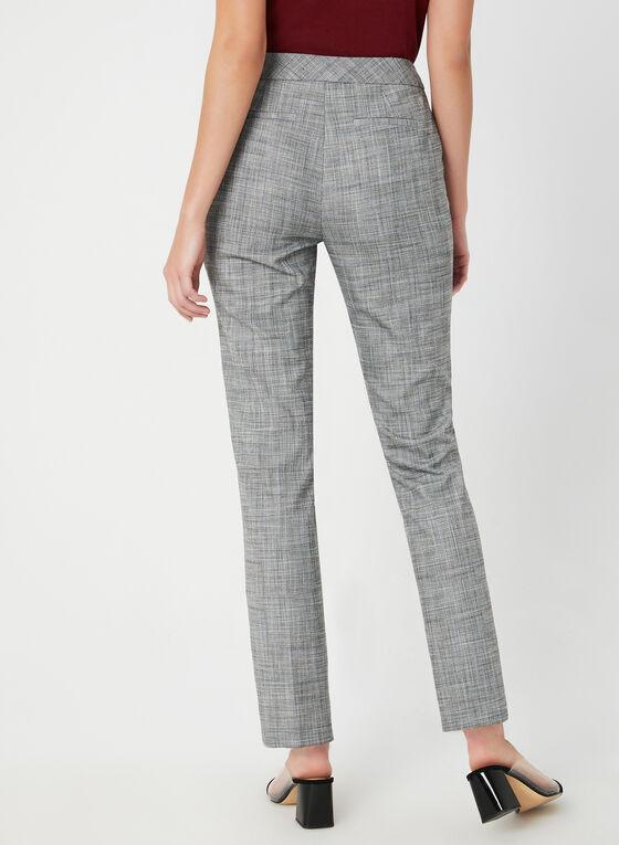 Pantalon coupe moderne et motif Prince-de-Galles, Noir