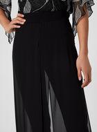 Modern Fit Chiffon Overlay Pants, Black