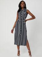 Emma & Michele - Stripe Print Shirt Dress, Blue, hi-res