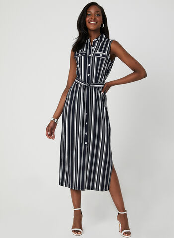 a9694bbc69d Emma & Michele - Stripe Print Shirt Dress