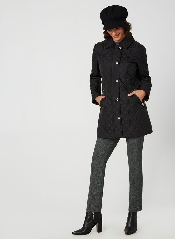 Anne Klein - Diamond Quilt Coat, Black