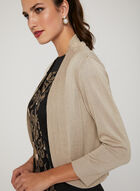Metallic Knit Bolero, Gold, hi-res
