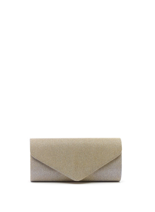 Glitter Envelope Clutch, Black, hi-res
