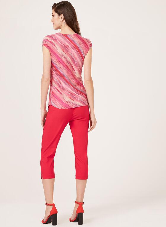 Haut à motif abstrait en jersey, Multi, hi-res