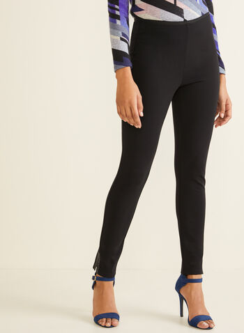 Crystal Detail Leggings, Black,  fall winter 2019, leggings, pull-on, essential