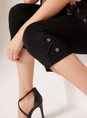 Picadilly - Pull-On Capris, Black, hi-res