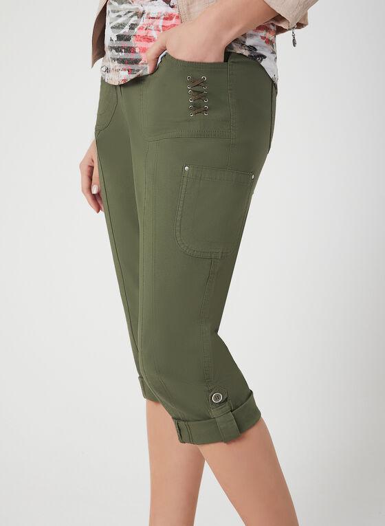 Modern Fit Capri Pants, Green
