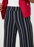 Pantalon rayé à jambe large, Bleu, hi-res