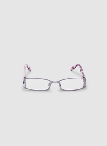 Geometric Stem Glasses, Purple,  rectangular glasses