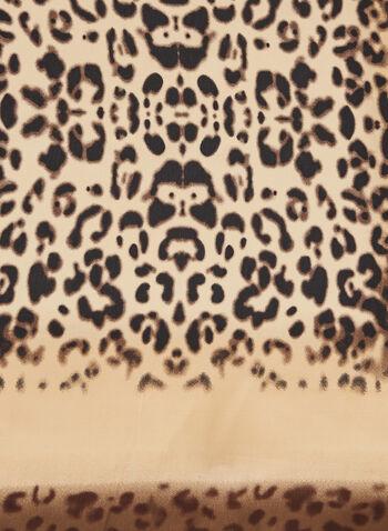 Foulard carré motif animalier, Brun,  foulard, léger, carré, animalier, automne hiver 2020