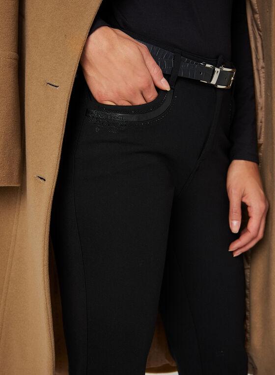 Simon Chang - Pantalon coupe signature à jambe droite, Noir, hi-res