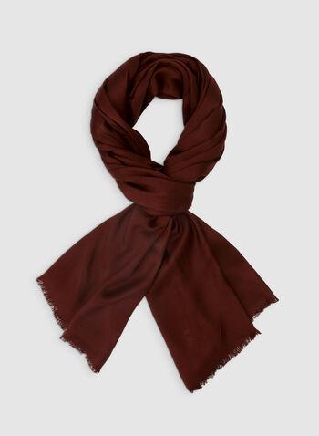 Foulard pashmina uni, Rouge,  foulard, pashmina, uni, viscose, automne hiver 2019