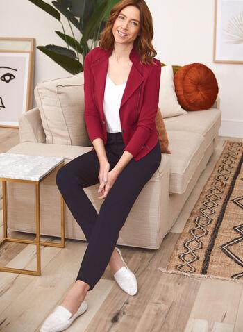 Blazer ouvert à détails zippés, Violet,  blazer, ouvert, zips, automne hiver 2020
