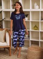 Tee & Capri Pyjama Set, Blue