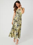 Nina Leonard - Abstract Print Dress, Yellow, hi-res