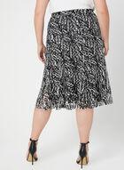 Printed Crochet Lace Skirt, Black, hi-res
