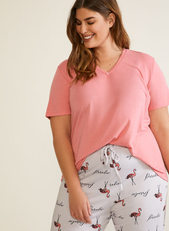 Patterned Pyjama Set, Grey