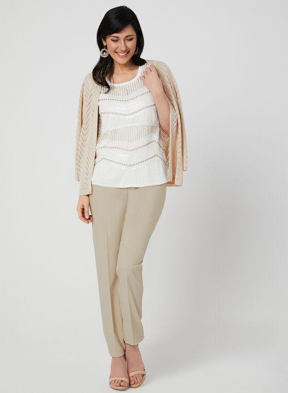 Ness - Sleeveless Bead Detail Top, White