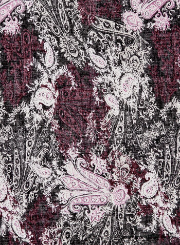 Foulard léger à motif tapisserie, Rouge, hi-res