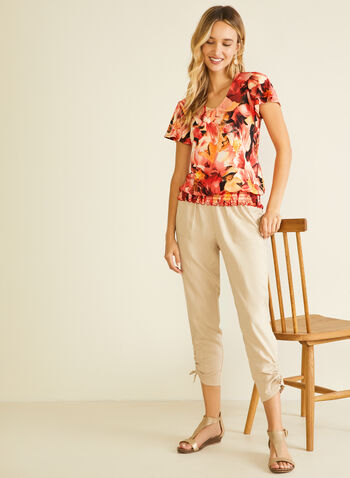 Pantalon en tencel à détails liens, Gris,  pantalon, droit, lien, pull-on, moderne, tencel, printemps été 2020