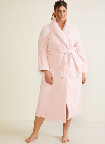 Belted Fleece Robe , Pink,  fall winter 2020, robe, fleece, belt, pyjama