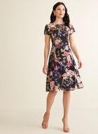 Floral Print Lace Dress, Blue