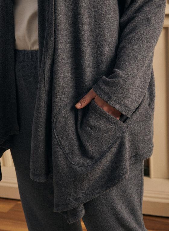 Haut par-dessus en tricot , Bleu
