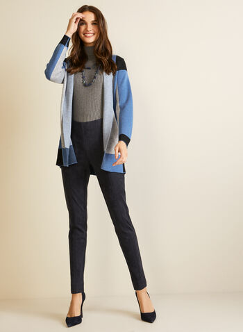 Faux Suede Leggings, Blue,  leggings, faux suede, stitch, pull-on, fall winter 2020
