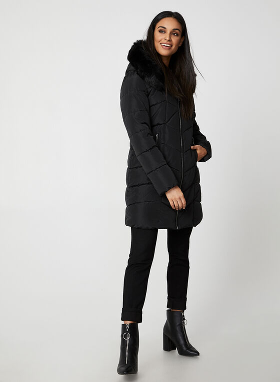 Northside - Quilted Coat With Vest, Black