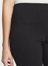 Pantalon coupe cité jambe droite motif œil-de-perdrix, Noir, hi-res