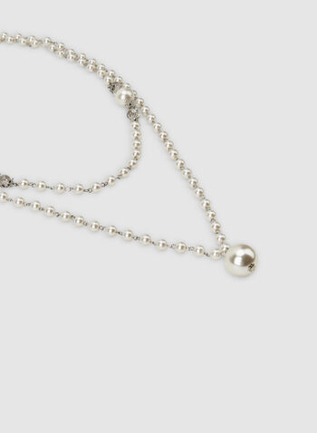 Long Pearl Necklace, Off White, hi-res,  long necklace