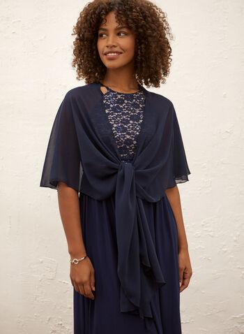 Lightweight Chiffon Shawl, Blue,  Canada, shawl, lightweight, chiffon
