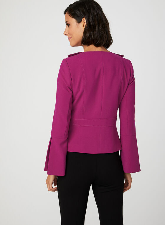 Bell Sleeve Cropped Jacket, Pink, hi-res