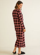 Tartan Print Nightgown, Red