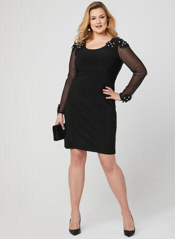 Joseph Ribkoff - Cold Shoulder Dress, Black, hi-res
