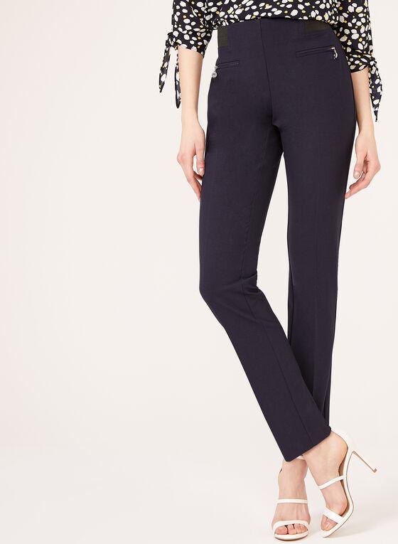 City Fit Pull-On Straight Leg Pants, Blue
